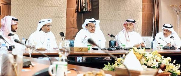 Minister of Education Dr. Hamad Al-Asheikh in a group discussion entitled the