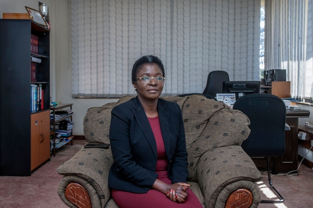 Malawi's Ombudsman (Public Protector) Martha Chizuma poses during an interview with Agence France-Presse in her office in Lilongwe, Malawi, on September 9, 2019. -AFP