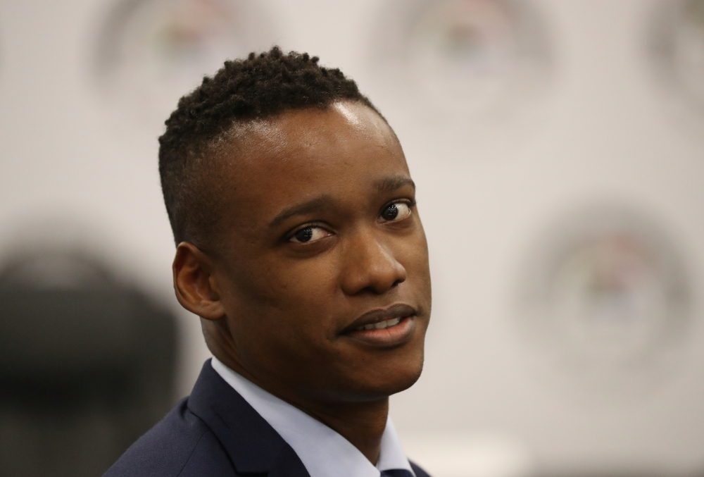 Duduzane Zuma, the son of former South African President Jacob Zuma, looks on before the start of the commission of inquiry probing state capture in Johannesburg, South Africa, on Monday. — Reuters