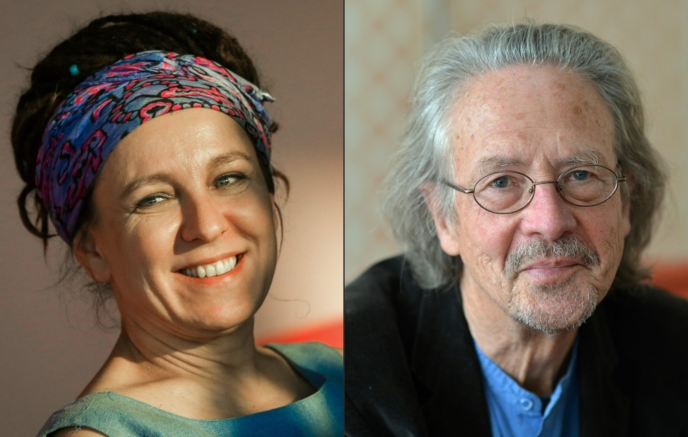Polish author Olga Tokarczuk, left, and Austrian novelist and playwright Peter Handke are seen in this file combination picture. — AFP