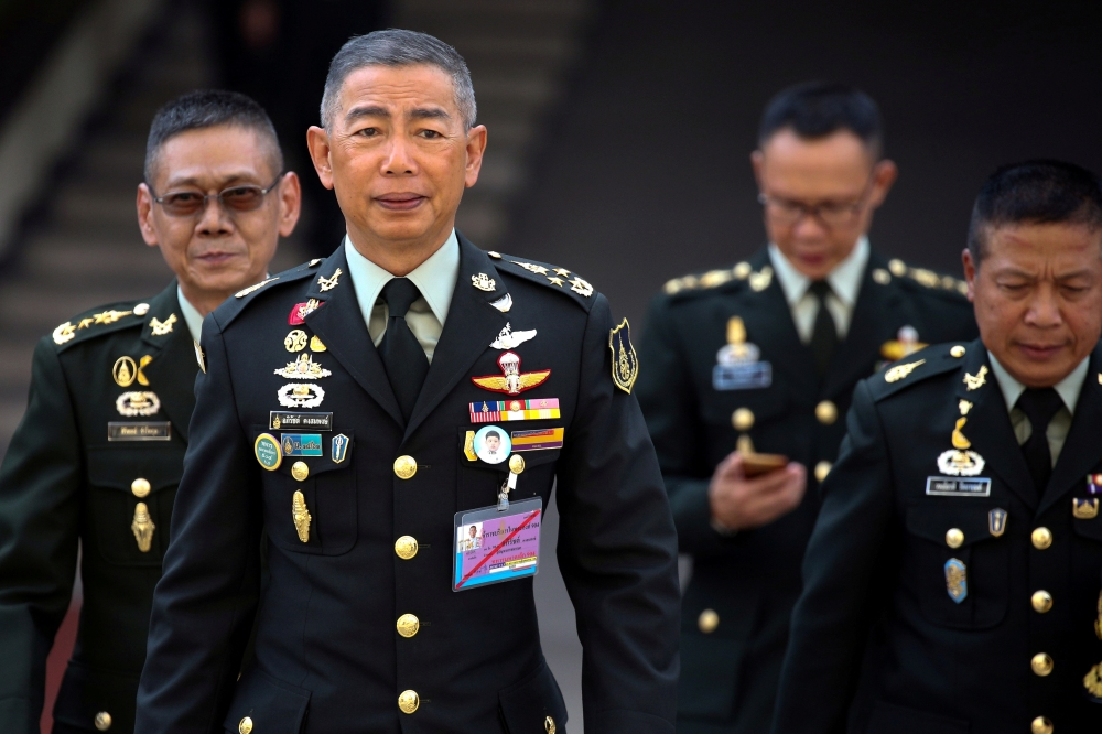 Thailand's Royal Army Chief Gen. Apirat Kongsompong arrives before an interview with members of foreign media at the Thai Army headquarters in Bangkok, Thailand, April 2, 2019. — Reuters