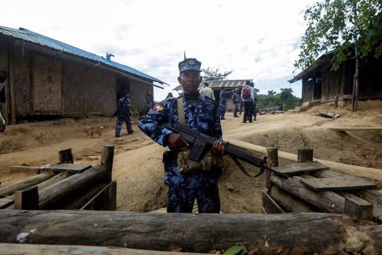 Myanmar has deployed thousands of troops to Rakhine state in a bid to crush an insurgency. -AFP