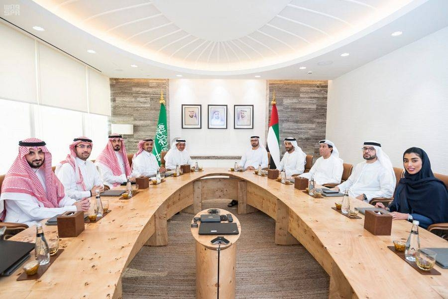 Saudi-UAE Coordination Council meeting underway in Dubai. — SPA photos