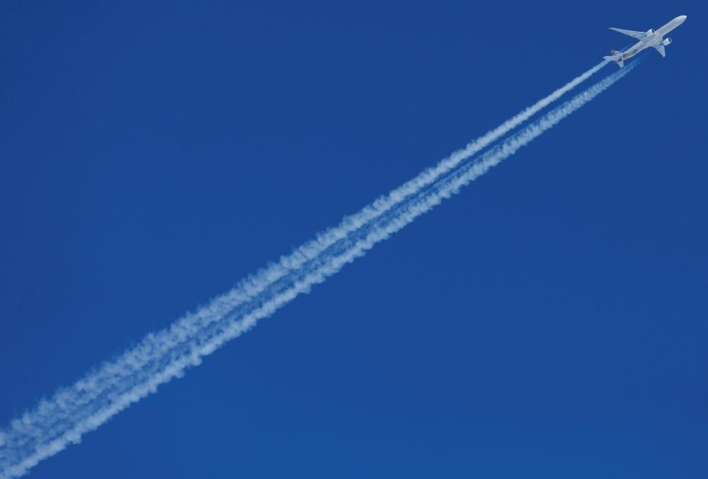 An Etihad Airways Airbus plane flies over St. Moritz, Switzerland, in this Feb. 13, 2017 file photo. — Reuters