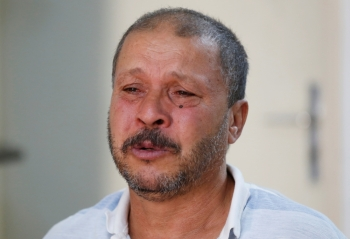Mokhtar Hmidi, the father of Fakher who still unaccounted for after last week's boat capsize off the Italian island of Lampedusa, reacts during an interview in Thina district of Sfax, Tunisia, in this Oct. 15, 2019 file photo. — Reuters