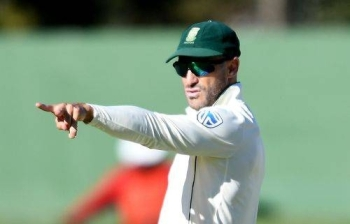 Skipper Faf du Plessis hopes to