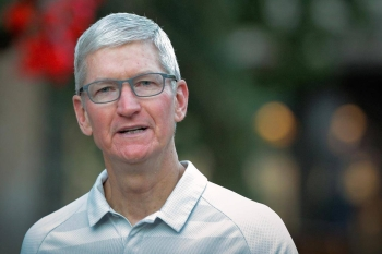 Tim Cook, CEO of Apple, attends the annual Allen and Co. Sun Valley media conference in Sun Valley, Idaho, US, July 12, 2019. — Reuters