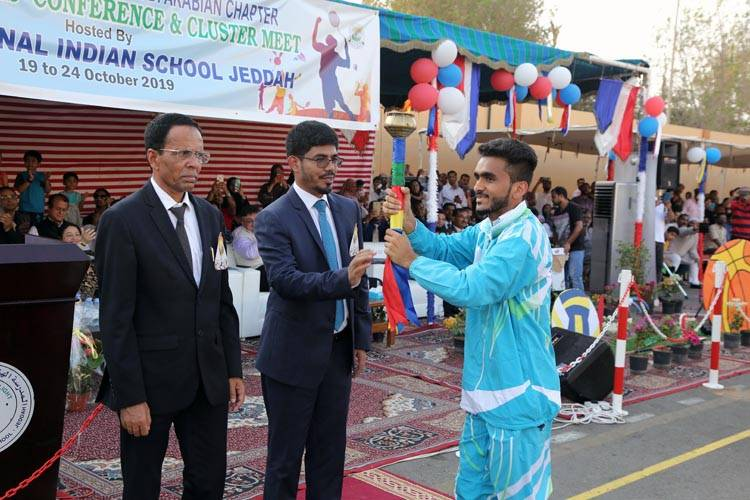 Consul General of India and Vice Patron of International Indian Schools in the Kingdom Mohammed Noor Rahman Sheikh inaugurates the 29th Cluster Meet of international schools affiliated to Central Board of Secondary Education in Jeddah on Saturday. — Photos Krishna Chemmad