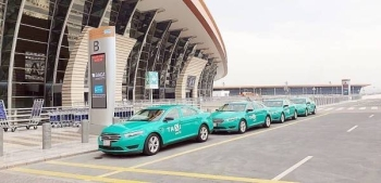 Photos of the taxis at Jeddah airport published on social media were for experimental purposes and said all the details of the project will be revealed after preparations in this regard are completed. — Okaz photo