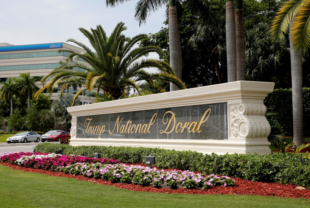 The Trump National Doral golf resort is shown in Doral, Florida, US, March 18, 2019.  — Reuters