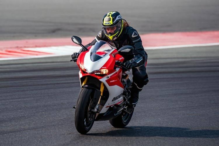 Saudi Dania Akeel seen riding a Ducati.
