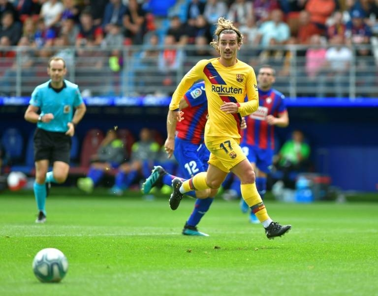 Antoine Griezmann joined Barcelona last summer and scored in their 3-0 win over Eibar in La Liga on Saturday. — AFP