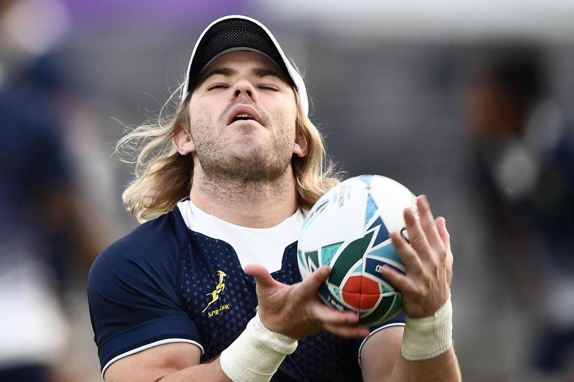 South Africa's scrum-half Faf de Klerk takes part in a training session at Fuchu Asahi Football Park in Tokyo, on Wednesday. — AFP