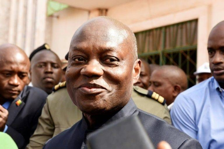 Guinea Bissau's President Jose Mario Vaz is seen during the March legislative elections campaign. -AFP