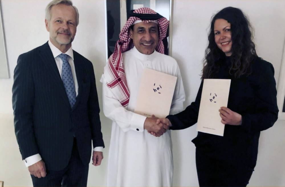 Antti Rytövuori, the Ambassador of Finland in Riyadh (left) hosted the signing of HEI Schools Jeddah and Dammam at the Finnish Embassy in Riyadh, Saudi Arabia.