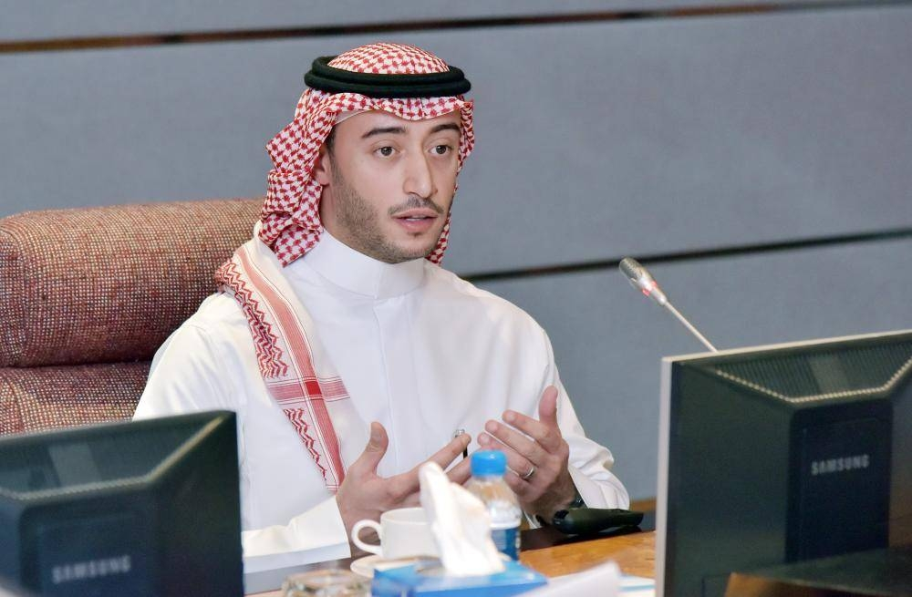 Naif Al-Omair, head of the ministry's vocational examination program, addresses the workshop. — Courtesy photos