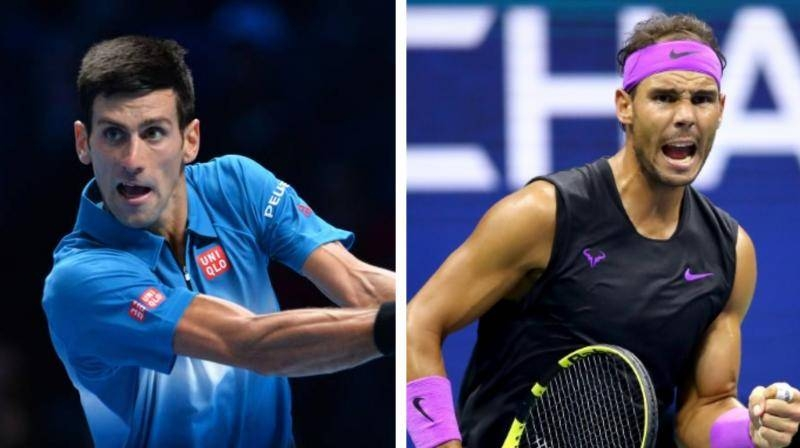 World No. 1 Novak Djokovic, left, and Spain's Rafael Nadal are seen in this file combination picture. — AFP