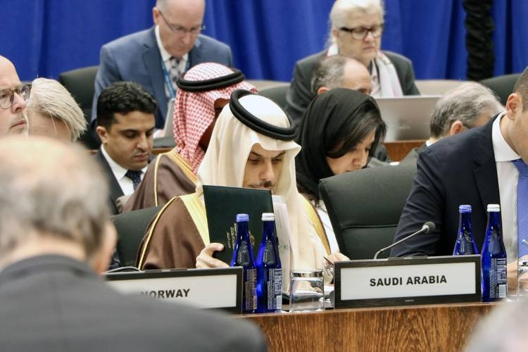 Prince Faisal headed the Kingdom's delegation to the Foreign Ministerial small group meeting of the Global Coalition to Defeat Daesh.