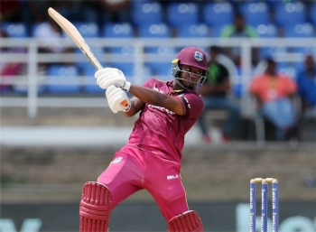 Opener Evin Lewis hits 68 off 41 balls as West Indies beat Afghanistan in the Twenty20 internationals in Lucknow, India.