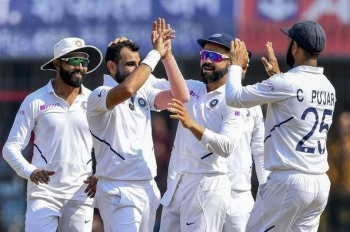 Fast bowler Mohammed Shami led India's attack as they crushed Bangladesh in the first Test by an innings and 130 runs to pick up their sixth successive Test win. — AFP