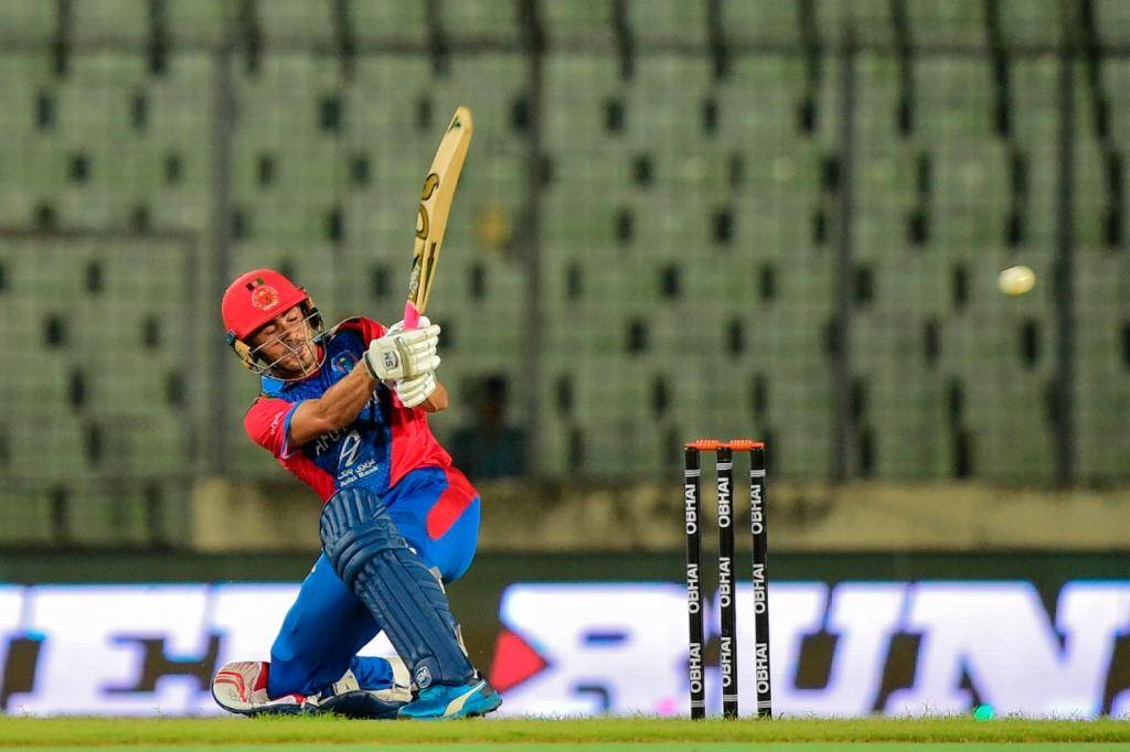 Teenage opener Rahmanullah Gurbaz hit an attacking half-century to set up Afghanistan's 29-run series-clinching win over West Indies in the third Twenty20 international on Sunday. — Courtesy photo