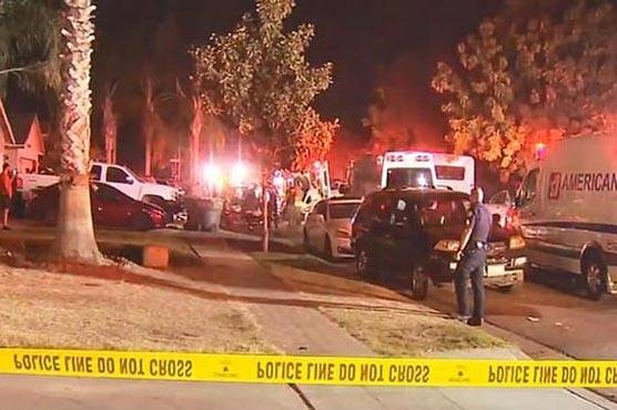 Police were called to the scene after at least one person opened fire into a crowd of about 35 people gathered outside the house in Fresno, around 200 miles (320 km) north of Los Angeles. — Courtesy photo