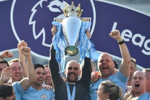 Manchester City posted record revenues of £535 million after winning a domestic quadruple of trophies last season. — AFP