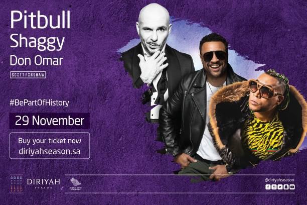 Diriyah Season brings Pitbull, Shaggy   Don Omar - 29th Nov M