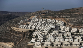 A picture shows a view of the Israeli settlement of Givat Zeev, near the Palestinian city of Ramallah in the occupied West Bank, on Tuesday. — AFP