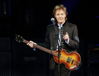 Paul McCartney performs in concert during his One on One tour at Hollywood Casino Amphitheatre in Tinley Park, Illinois, in this July 27, 2017 file photo. — AFP