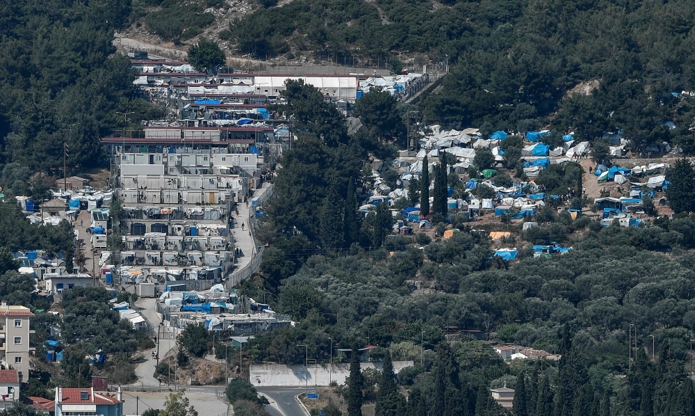 The Samos hotspot and makeshift migrant camp are seen on the island of Samos, Greece, in this June 19, 2016 file photo. — AFP . — AFP