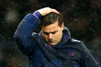 In this file photo taken on Nov. 09, 2019, Tottenham Hotspur's Argentinian head coach Mauricio Pochettino reacts during the English Premier League football match between Tottenham Hotspur and Sheffield United at Tottenham Hotspur Stadium in London. Tottenham Hotspur sacked manager Mauricio Pochettino on Tuesday just five months after reaching the Champions League final following a poor start to the Premier League season. — AFP
