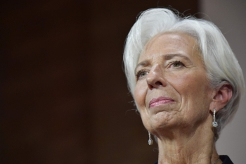 President of the European Central Bank (ECB) Christine Lagarde speaks at an event honoring former German finance minster Wolfgang Schaeuble hosted by the Association of German Magazine Publishers (VDZ) in Berlin in this Nov. 4, 2019 file photo. — AFP