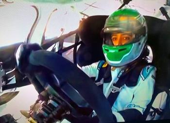 Reema Juffali in competitive mode at the Diryah Circuit.