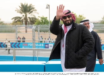 Crown Prince Muhammad Bin Salman, witnessed on Friday the second round of ABB FIA Formula E Championship for Electric Cars at Diriyah City.