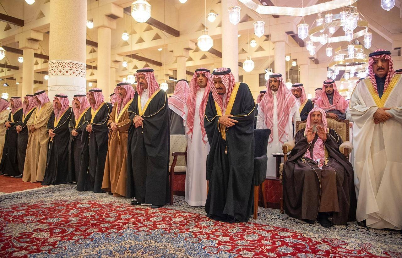 Prince Miteb's funeral prayer in Riyadh