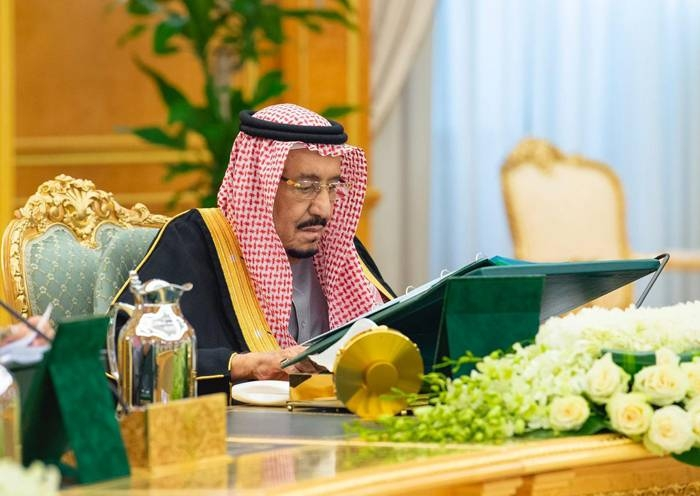 Custodian of the Two Holy Mosques King Salman chairs the Cabinet meeting in Riyadh, Tuesday. — SPA