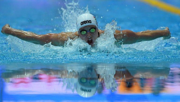 Hungary's Katinka Hosszu, seen in this file photo, swam to her 90th international medal and 60th gold on Wednesday at the European Short Course championships. — AFP