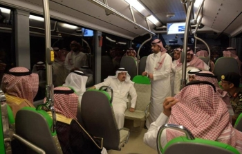Riyadh Emir Prince Faisal Bin Bandar inspects Riyadh metro project in this Sept.17. 2018file photo. — SPA