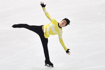 USA's Nathan Chen performs during the Men Free Skating program at the ISU Grand Prix of figure skating Final 2019 in Turin, on Saturday. — AFP