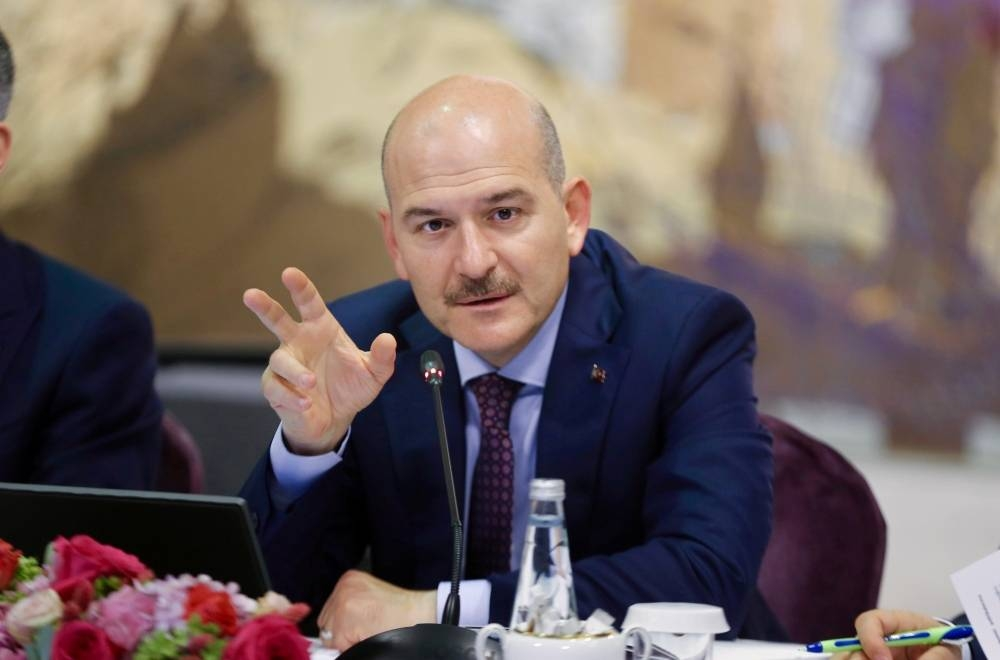 Turkish Interior Minister Suleyman Soylu speaks during a news conference for foreign media correspondents in Istanbul, Turkey, in this August 21, 2019 file picture. — Courtesy photo