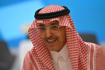 Saudi Arabia's Minister of Finance Mohammed Al-Jadaan during the Kingdom's Budget 2020 Forum in Riyadh on Tuesday.