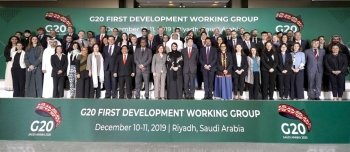 Delegates at the two-day G20 Development Working Group (DWG) meeting in Riyadh, the first meeting under the Saudi G20 Presidency.