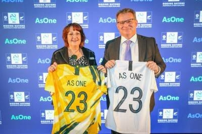 Australia, New Zealand join forces for 2023 Women's World Cup bid.