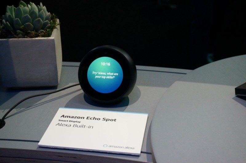 Amazon's Echo Spot device powered by its Alexa digital assistant is seen at the Consumer Electronics Show in Las Vegas, Nevada, in this Jan. 11, 2019 file photo.