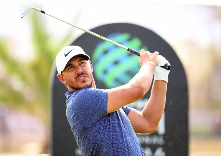 Brooks Koepka of the USA in action during the third round of the Saudi International at the Royal Greens Golf & Country Club on Feb. 2, 2019 in King Abdullah Economic City, Saudi Arabia. — AFP