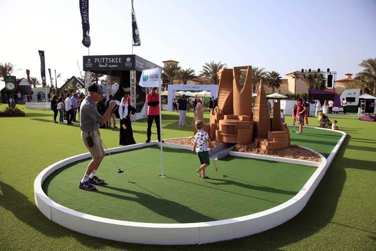 The Entertainment Zone at the Saudi International.