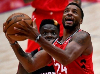 Toronto forward Norman Powell came off the bench to become one of seven Raptors in double figure scoring against the Washington Wizards. — AFP
