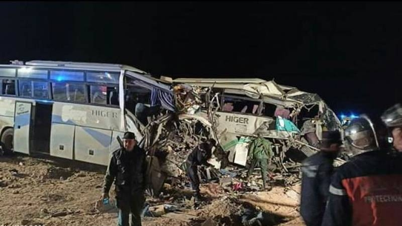 Twelve people were killed and another 46 injured in when two buses collided in Algeria on Sunday. -AFP