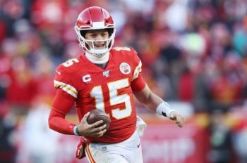 Patrick Mahomes is all smiles after leading the Kansas City Chiefs back to the Super Bowl for the first time in 50 years. — AFP